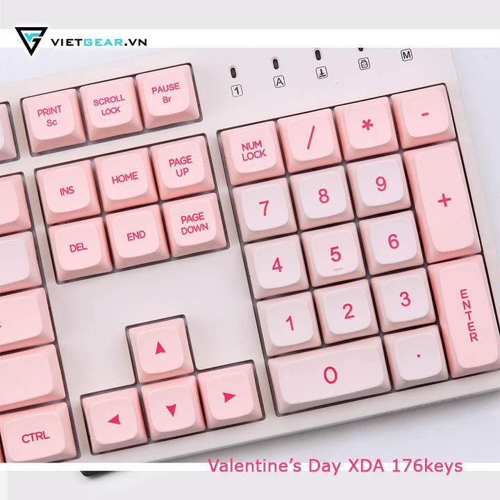 Bộ nút bàn phím Keycap Valentine's Day XDA, PBT, 176 nút