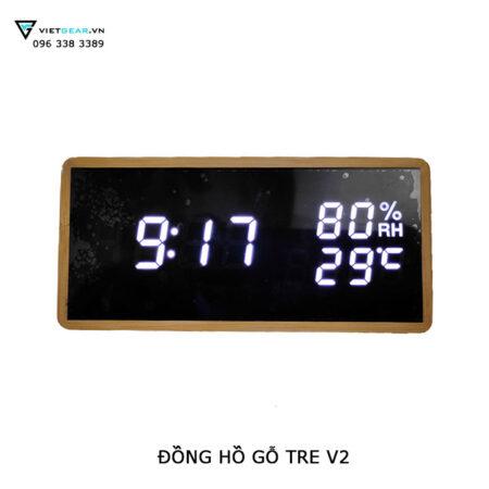 đồng hồ gỗ tre