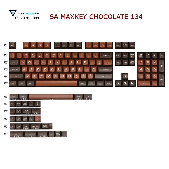 SA Maxkey Chocolate với mầu sắc mang đậm vị socola sữa
