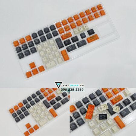 Bộ nút bàn phím Cherry Carbon Thick PBT 131 nút chữ to