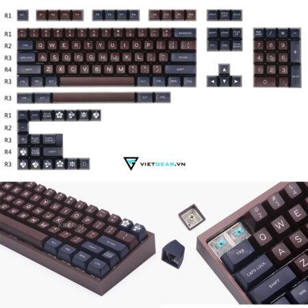 Set keycap SA Maxkey Blue Coffe 129 nút