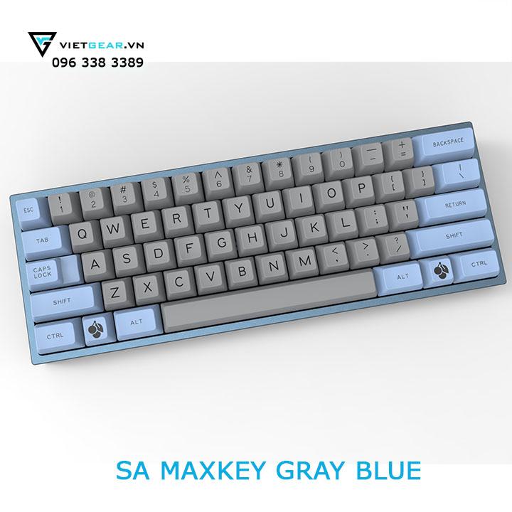 SA Maxkey Gray Blue 127 nút, ABS double shot