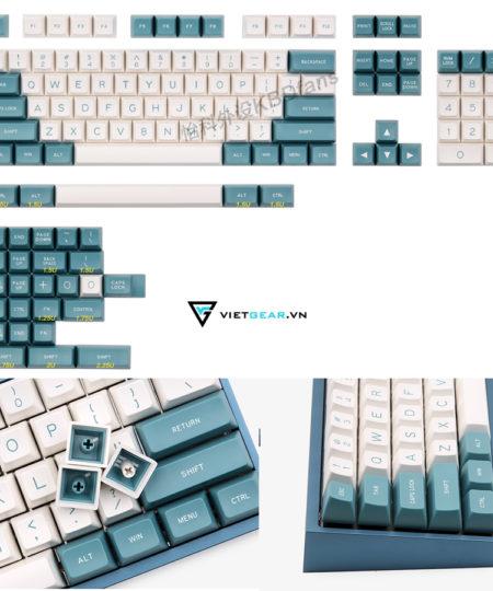 Set keycap SA Maxkey Green-White 131 nút