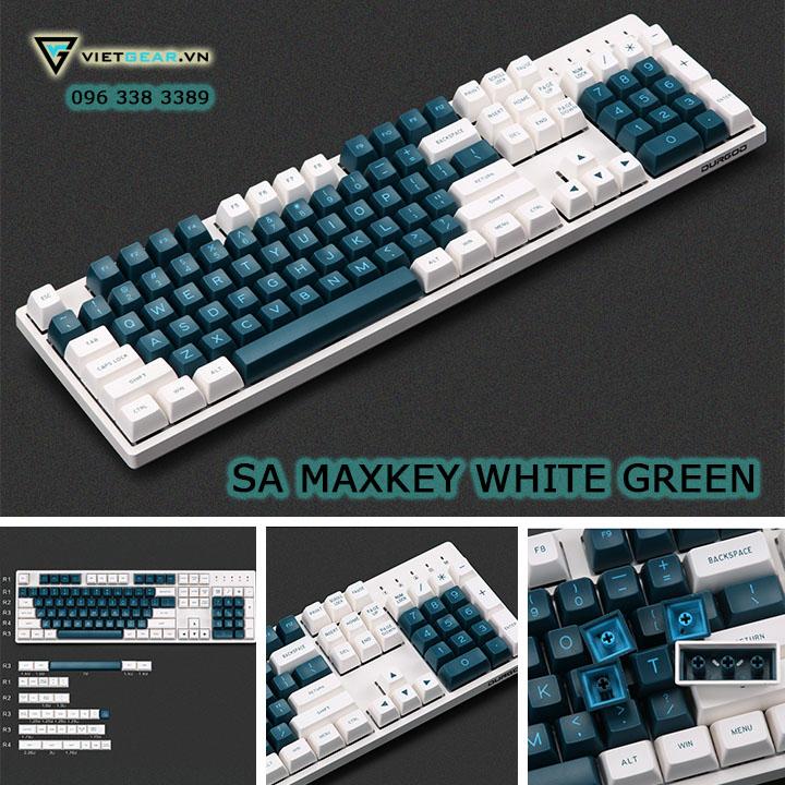 Bộ nút bàn phím SA Maxkey White Green, 139 nút