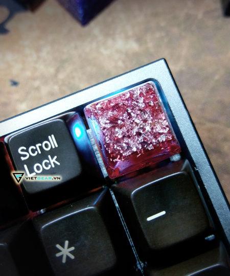 Keycap SA Ruby đỏ giấy bạc R3