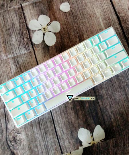 Bàn phím cơ ANNE PRO V2 màu trắng, Gateron switch, bluetooth 4.1, led RGB