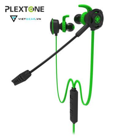 Tai nghe Plextone G30 có micro, chất lượng cao, full phụ kiện màu xanh