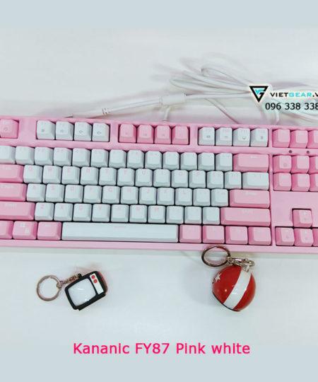Bàn phím cơ Kananic Readson FY87 mầu hồng trắng