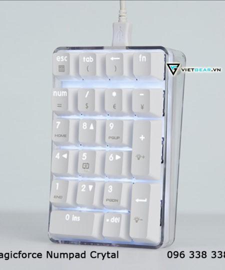 Bàn phím cơ Magicforce Numpad Crytal, phím số numpad, led trắng tinh tế