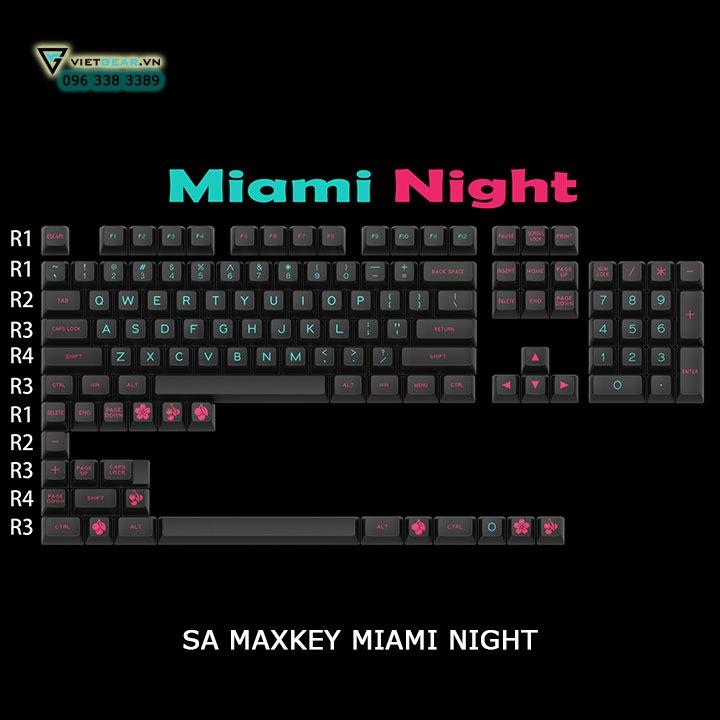 SA Maxkey Miami Night 127 nút, tặng kèm keypuller