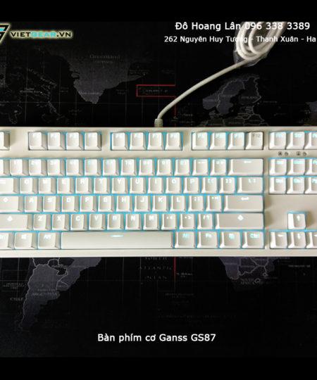 Bàn phím cơ Ganss GS87, led đơn sắc, Cherry switch, chất lượng cao