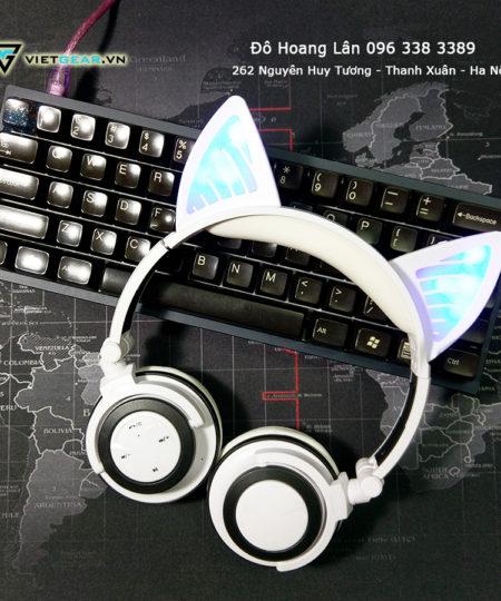 Tai nghe tai mèo siêu cute, phiên bản bluetooth