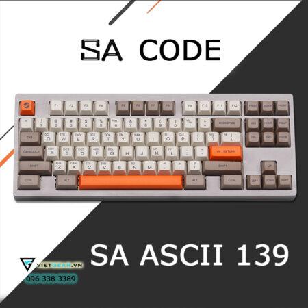 Bộ nút bàn phím SA PBT Control CODE ASCII 139 nút, tặng kèm keypuller