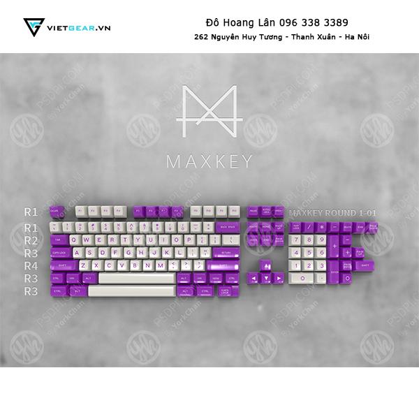 Set keycap Lavender Maxkey 119 nút