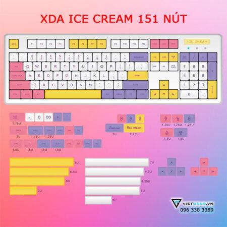 Bộ nút bàn phím XDA Ice Cream 176 nút Thick PBT in dyesub