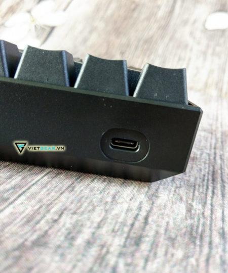Bàn phím cơ ANNE PRO V2 Cherry switch màu đen, bluetooth, led RGB