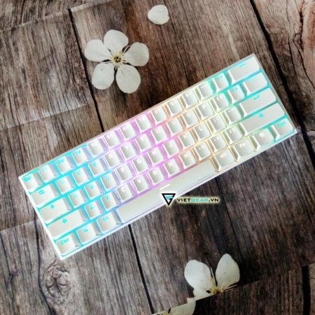 Bàn phím cơ ANNE PRO V2 Kailhbox switch màu trắng, bluetooth, led RGB