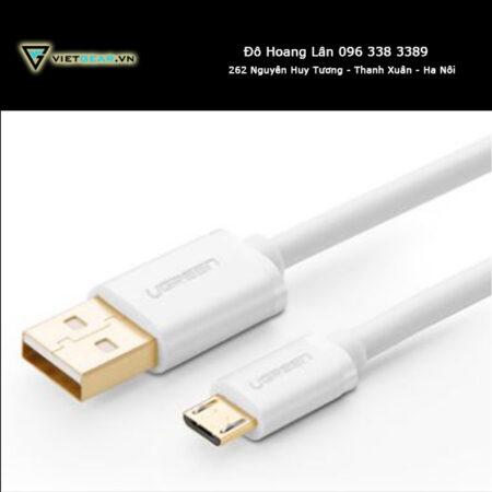Cáp micro USB chính hãng UGreen trắng 1m