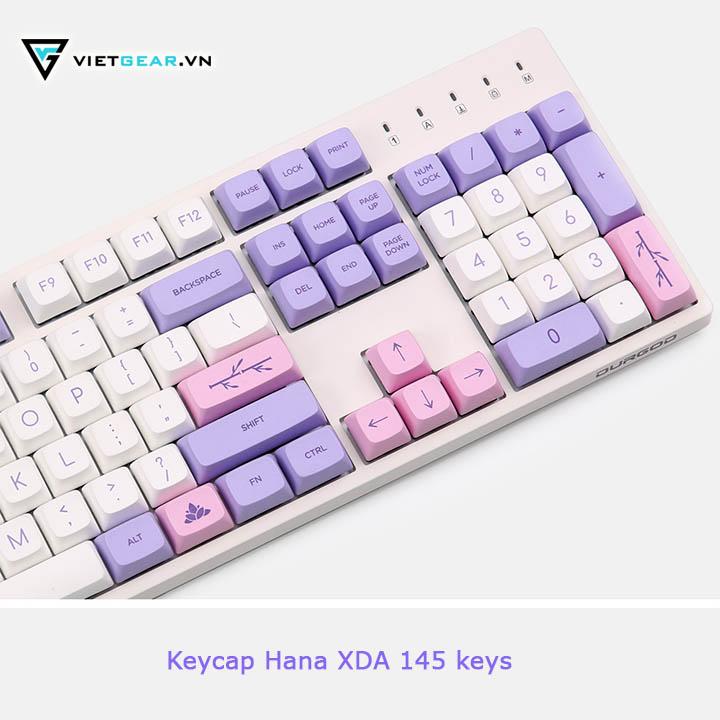 Bộ nút bàn phím Keycap Hana XDA PBT 145 nút