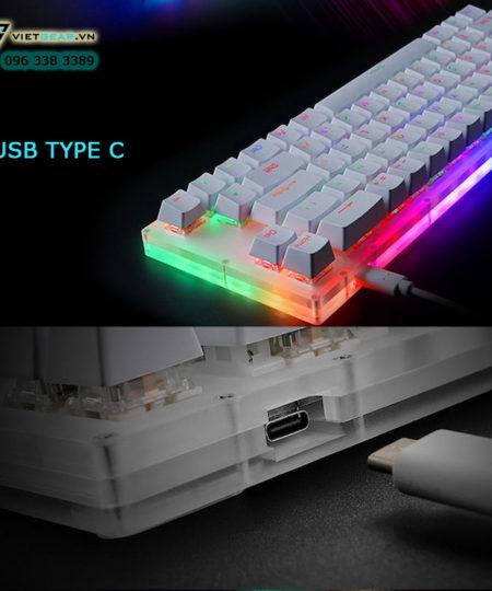 Womier 66, bàn phím cơ led RGB mini 66%